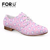 Image of Women's Pink Fashion Unicorn  Oxfords  Leather Shoes