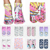 Image of Hot Sale 3D Print Unicorn Cute Casual Popular Ankle Socks in 13 Patterns