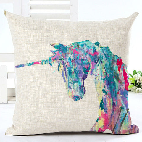 Unicorn Cushion Cover / Unicorn Home Decorative Pillow Cover