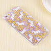 Image of LACK Cartoon Unicorn Horse Dynamic Paillette Glitter Stars Water Liquid Case for iPhone 5 5s SE Hard plastic Covers Phone Case