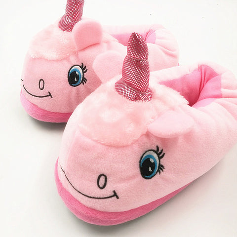 Unicorn slippers warm and fluffy