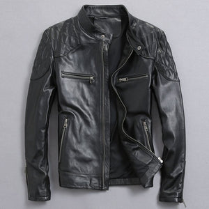 David Beckham Real Leather Jacket Hot Sale Fall Winter Fashion Men's Black Color Genuine Leather Jacket Men's Wear Top Quality