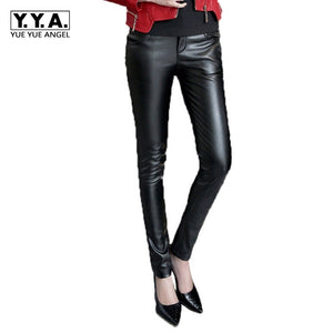 Ladys Fashionable Genuine Sheepskin Leather Trousers Genuine Leather Pants Brand New Women Long Pants Casual Plus Size Black Red