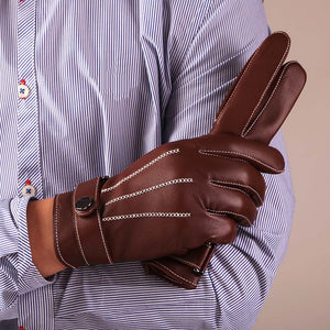 KURSHEUEL  Best Luxury Touchscreen Italian Nappa Leather Gloves for men's Texting Driving Cashmere Lining