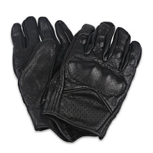 Black Retro Breathable Leather Motorcycle Gloves Touch Screen Men Women Motorbike Moto Glove Touchscreen Luvas