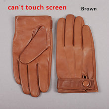 Gours Winter Genuine Leather Gloves Men New Brand Goatskin Black Fashion Driving Touch Screen Gloves Goatskin Mittens GSM036