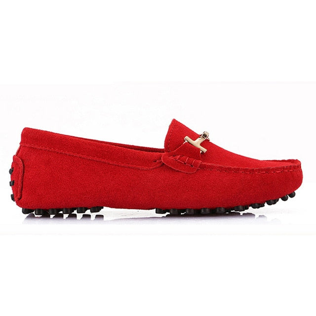 Shoes Woman 2019 Genuine Leather Women's Flat Shoes Casual Loafers Slip On Women Shoes Flats Soft Moccasins Lady Driving Shoes
