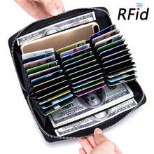 Anti RFID Blocking Credit Card Holder Women&Men Wallets Genuine Leather Large Capacity Card Holder Passport Cellphone Purse