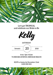 Tropical Bridal Shower Invitation