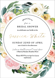 Floral Bridal Shower Invitation - Gold Coast