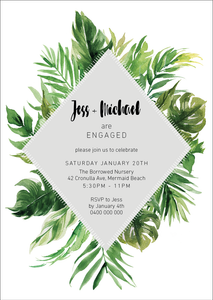 Luxe Tropical Engagement Party Invitation