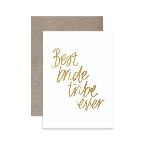 Handlettered Bridesmaid Greeting Cards