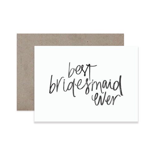 Best Bridesmaid Greeting Card