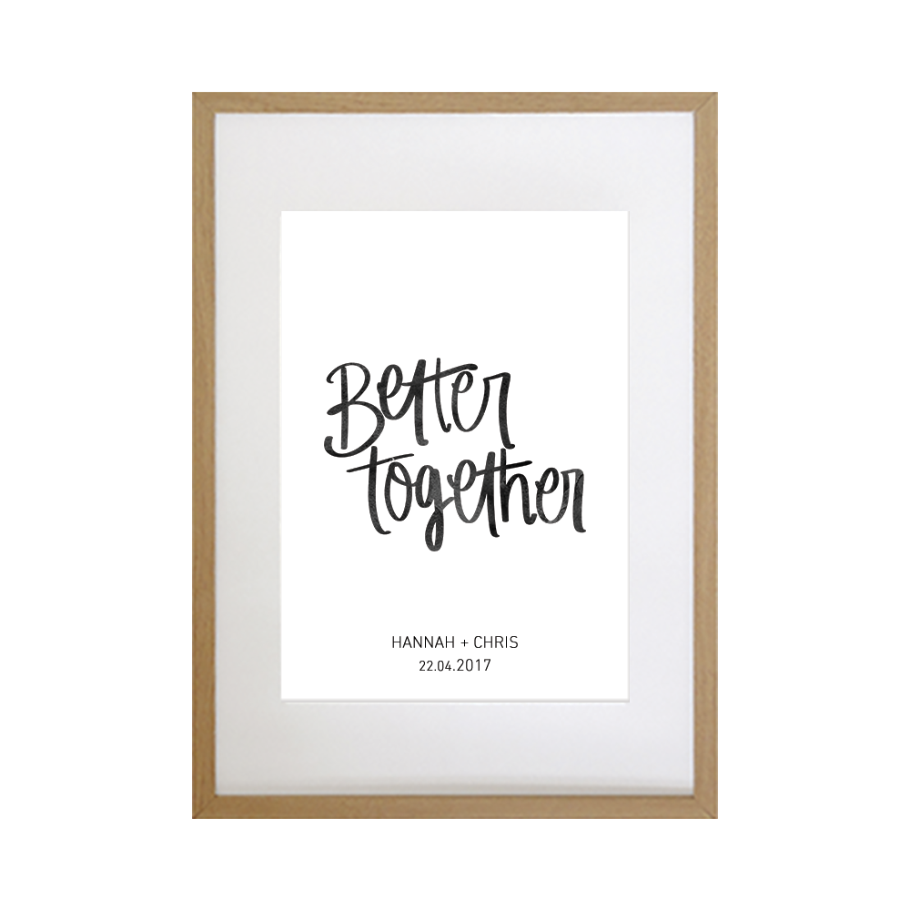 Hand lettered wedding print