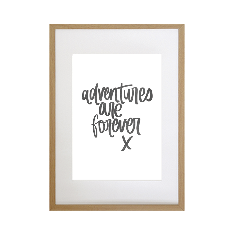 Custom Hand-lettered Print - Personalised Wedding Gift