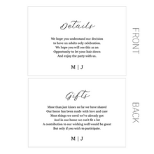 Black Tie Wedding Stationery
