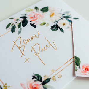 Floral Femme // Luxe Quad Fold Wedding Invitation