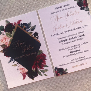Regal Elegance // Luxe Wedding Invitation