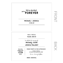 Modern Wedding Stationery - Invitation