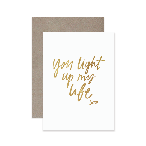 Hand lettered wedding greeting cards