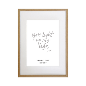 Personalised Hand-lettered Wedding Gift Print