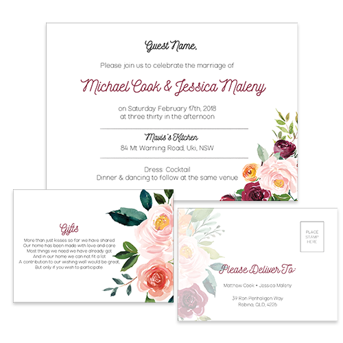 The Bold Floral Wedding Suite