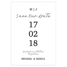 Black Tie Wedding Save The Date