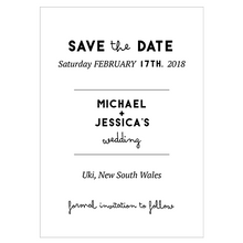 Modern Wedding Stationery - Save the date