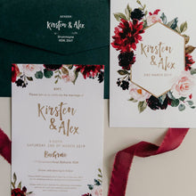 Vibrant Botanica // Luxe Wedding Invitation