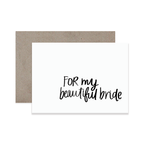 Beautiful Bride Greeting Card
