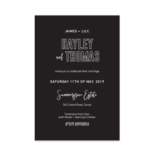 Modern Magic // Luxe Wedding Invitation