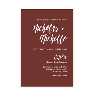 Electric Elegance // Luxe Wedding Invitation