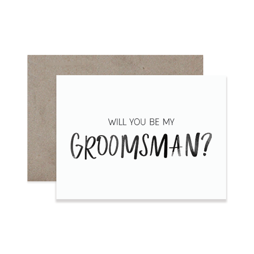 Groomsman Greeting Card