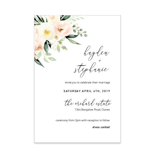 Whimsical Floral // Luxe Wedding Invitation