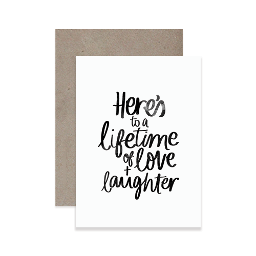 Love + Laughter Greeting Card
