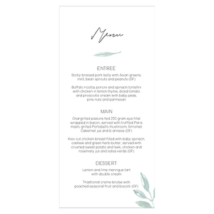 Lush Wedding Menus - Gold Coast, Australia