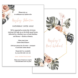 Bridal Shower Invitations - Gold Coast Australia