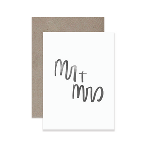 Mr + Mrs Greeting Card