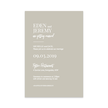 Modern Chic // Luxe Wedding Invitation