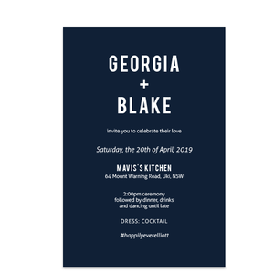 Bold Simplicity // Luxe Wedding Invitation