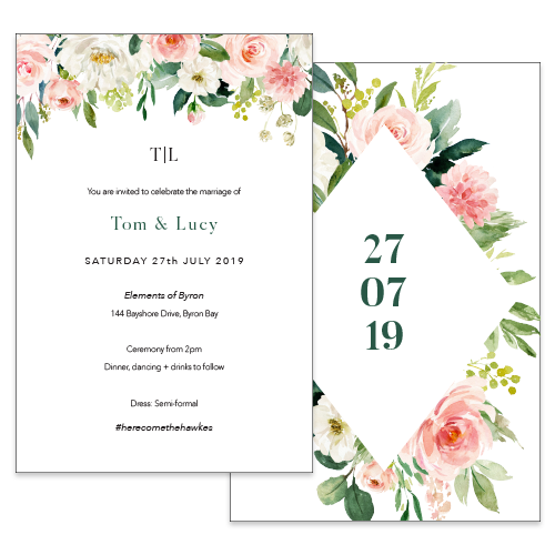 Lush Floral // Luxe Wedding Invitation