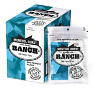 RANCH MENTHOL FILTERS BURST SUPA SLIM X 12 BAGS
