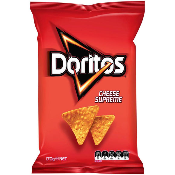 DORITOS CHEESE SUPREME 170G X 12