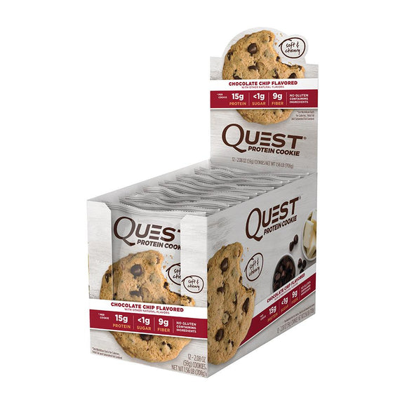 QUEST PROTEIN COOKIE CHOC CHIP 59G X 12