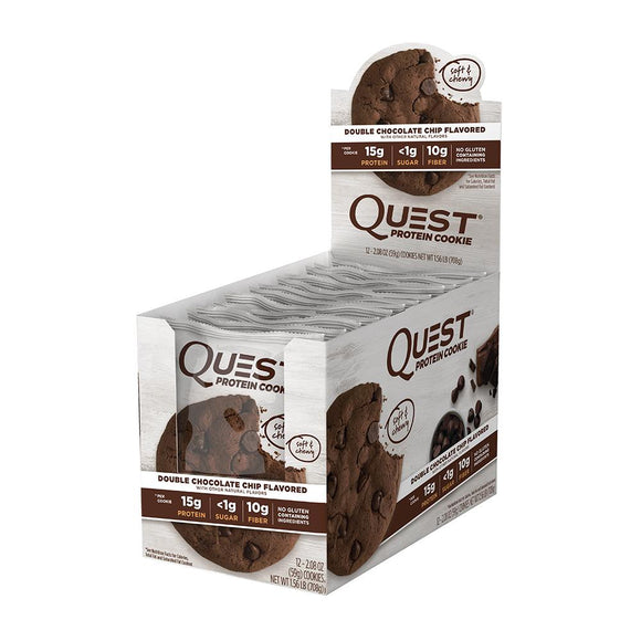 QUEST PROTEIN COOKIE DOUBLE CHOC CHIP 59G X 12