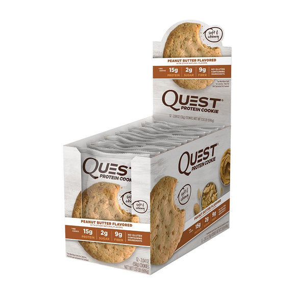 QUEST PROTEIN COOKIE PEANUT BUTTER 59G X 12