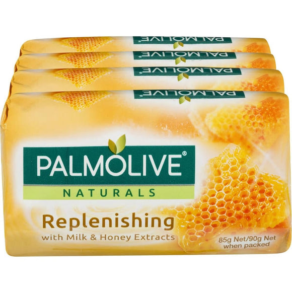 PALMOLIVE 4PK SOAP BARS NOURISHING SOFTNESS MILK & HONEY