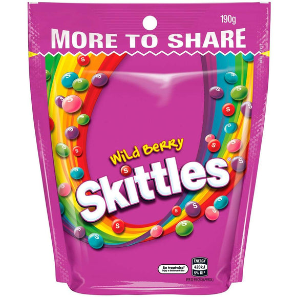 SKITTLES WILDBERRY 190G X 12
