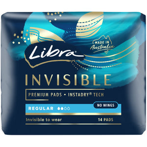 LIBRA INVISIBLE REGULAR PADS 14'S X 6