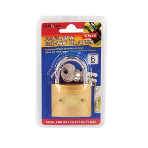 Padlock-50mm-Brass Plated